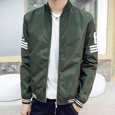 2017 Fashion High Quality bomber jacket Army Green Military red varsity Ma-1 Flight Jacket Pilot Air Force Men Bomber Jacket  #Affiliate