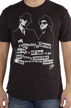 It's Dark Blues Brothers T-Shirt: Blues Brothers Mens T-shirt