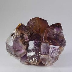 Amethyst Phantom Quartz Crystal Cluster with Hematite Layer, Brandberg Goboboseb