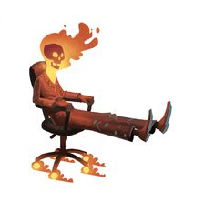 Office Chair Ghost Rider
