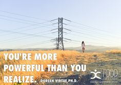 You're more powerful than you realize. Doreen Virtue, Happy Thoughts, Food For Thought, Poster, Billboard