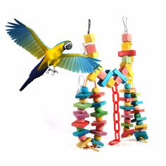 Parrot Bird Toys Colorful Wood Bird Bites Climb Chew Toy Han… – Pets and Supplies Parrot Pet, Parrot Toys, Parrot Bird, Bird Toys, Cat Toys, Colorful Parrots, Wood Bird, Parakeet, Bunt