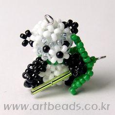 Beaded Panda PATTERN artbeads