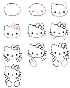 Peace, Love, Crafts: How to draw Hello Kitty!