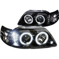 Cheap 1999-2004 Ford Mustang LED Halo Projector Headlights Lamp Black sale