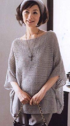 Scheme crochet tunic