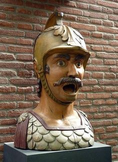 Museum Boerhaave Gaper  A gaper is a stone or wooden head, often depicting a Moor, on the front of a building in the Netherlands. It was used to indicate that this building is a pharmacy.