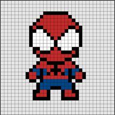 Patrones de Hama Beads de Spiderman [pixel art]