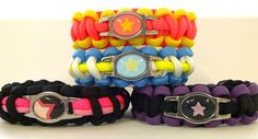 Steven Universe Paracord Bracelets by NerdCord on Etsy