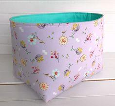 Fabric Storage Baskets, Fabric Bins, Toy Storage, Fabric Decor, Fabric Basket, Basket Organization, Organizer Bins, Shabby Chic Storage, Chic Nursery