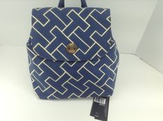 Women's Tommy Hilfiger Brand Blue Backpack Handbag $79 MSRP 20 Off | eBay