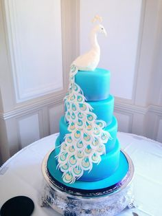 Our Peacock wedding cake