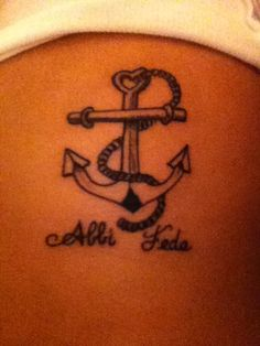 Tattoo; it means Have Faith in Italian