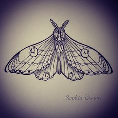 Awesome Colored Ink Moth Tattoo Design