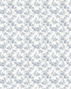 Blanc motif bleu style vintage