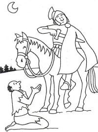 martin of tours catholic coloring page feast day