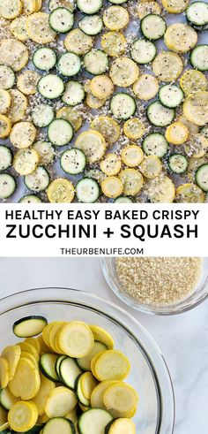 Crispy Baked Zucchini and Squash Recipe! Makes a healthy summer snack or side dish! Combine veggies with Panko, olive oil, salt and pepper, then roast for 30 minutes. Healthy Family Meals, Family Recipes, Holiday Recipes, Dinner Recipes, Delicious Recipes, Crockpot Recipes, Vegetarian Recipes, Healthy Recipes, Dairy Free Diet