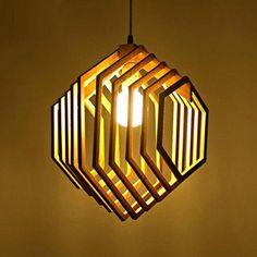 Vector dxf cdr for CNC vector file digital Wood Pendant Light, Wood Chandelier, Pendant Lighting, Laser Cut Lamps, Wooden Lamp, Hanging Lights, Hanging Lamps, Lamp Design, Design Design