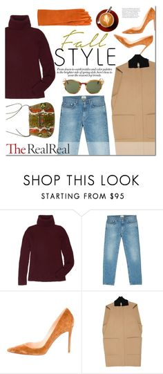 """""""Fall Style With The RealReal: Contest Entry"""" by junglover ❤ liked on Polyvore featuring The Row, Acne Studios, Christian Louboutin and Balenciaga"""