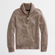 J.Crew Factory (in outlet mall by stadium) - Factory lambswool shawl-collar sweater - in either hthr mink or marbled almond - $50.50