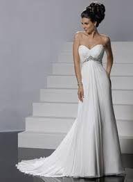 Resultado de imagen para vestidos de novia sencillos para boda civil para embarazadas