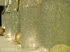 Garrafa com glitter
