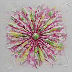 FlowerPower - Oljemålning - 60x60cm - 50% via Konstlagret. Click on the image to see more!