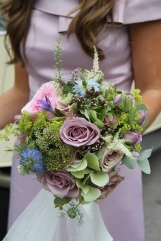 Bridesmaid's English Country Bouquet