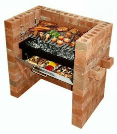 "Excellent ""built in grill diy"" info is offered on our internet site. Check it out and you wont be sorry you did. Brick Built Bbq, Brick Grill, Built In Grill, Barbecue Grill, Grill Diy, Homemade Grill, Gas Bbq, Parrilla Exterior, Charcoal Bbq"
