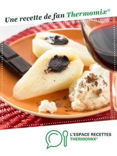 Poires au coeur chocolat par thermomix. Une recette de fan à retrouver dans la catégorie Desserts & Confiseries sur www.espace-recettes.fr, de Thermomix®.