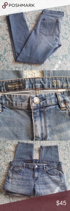 J.Crew Match Stick Jeans size 30 Excellent condition J. Crew Match Stick light wash jeans. Perfect for fall. J. Crew Jeans