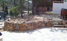 Retaining Wall Natural Stone Ideas Wyoming 83001