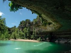 Hamilton Pool, Texas near Austin. 29 Surreal Places In America You Need To Visit Before You Die Places In America, Places Around The World, Oh The Places You'll Go, Places To Travel, Places To Visit, Dream Vacations, Vacation Spots, Adventure Is Out There, Travel Usa