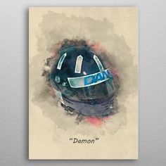 Damon Hill's Helmet by Abraham Szomor | metal posters - Displate