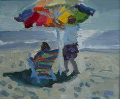 "Peggy Kroll Roberts  ~  ""Laguna Umbrella"""