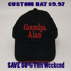 PERSONALIZED HATS FOR $9.97!! - Great for Bridal Party Members!!!  Labor Day Weekend Only!!