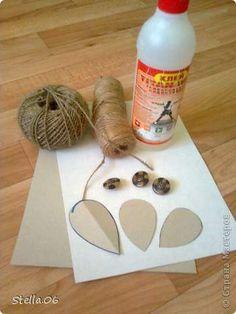 más y más manualidades: Como hacer flores y hojas de cuerda para decoraciones rústicas