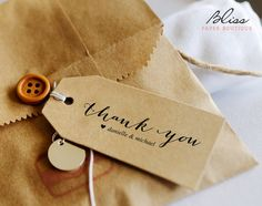 """Free custom printable """"Thank You"""" tag. Download Tag Here! How does it work? Download the FREE template. Open the PDF file in Acrobat Reader (Download free here: http://get.adobe.com/reader/) Update text field with names (files are pre-populated as a guide) Print on your home printer, at a copy"""