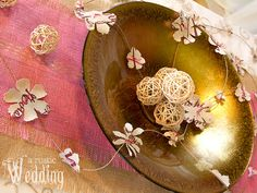 Beautiful paper flowers. A Rustic Wedding with Fabric.com: Flower Garland   Sew4Home