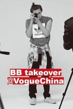 Brooklyn Beckham wearing Saint Laurent Bleached Checked Stretch Cotton-Blend Shirt and Adidas Originals Backboard Logo T-Shirt