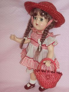 """c1930's 15"""" Arranbee Composition Betty Doll - In Excellent Condition & All Original"""
