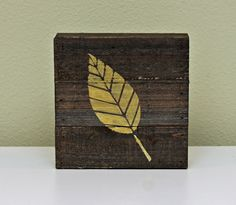 Leaf Plank by Summer Fullerton featuring Jillibean Soup Mix the Media Wood Planks