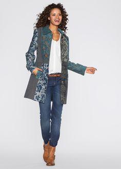 Jas blauw gedessineerd - RAINBOW nu in de onlineshop van bonprix-fl.be vanaf 55,99 ? bestellen. Trendy jas in een hoogwaardige materiaalmix met prachtig ...