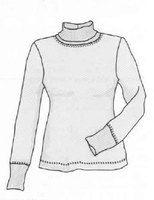 Descarga el patrón de cuello alto de las mujeres