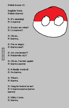 Learn polish in 10 seconds Stupid Funny Memes, Funny Pins, Hilarious, Satw Comic, Polish Memes, Polish Sayings, Learn Polish, Polish Language, Man Humor