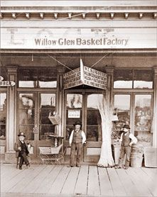 Love these old photos of our neighborhood! Photo San Jose - Willow Glen Basket Factory