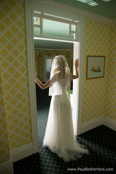 Bride in Grand Hotel Suite Northern Michigan destination wedding venue photography by Paul Retherford ~ Wedding dress by Catherine Deane #GrandHotel #MackinacIsland #WeddingVenue #Weddingidea #Weddingday #PureMichigan #NorthernMichigan #glowingbride #Bride #Wedding