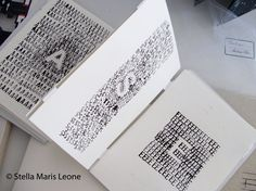 Ojo del Sur: Libros de artista Lettering, Libros Pop-up, Collages, Artist Journal, Painted Letters, Calligraphy Letters, Handmade Books, Book Binding, Altered Books