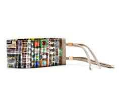 Julie Rofman - Wide Beaded Bracelet in Galapagos