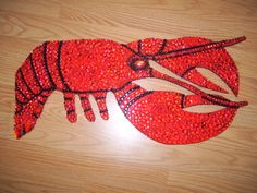My latest art piece complete on April 3rd by me (Susan Chance). A tribute to Red Lobster. For sale $150.00